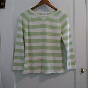 Ann Taylor Loft Striped 3/4 sleeve sweater